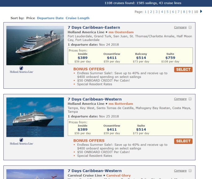 cruise discounts